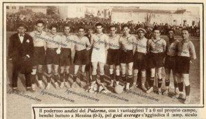 Palermo Calcio 1926 il Palermo vittorioso nel campionato calcistico della I Divisione in Sicilia