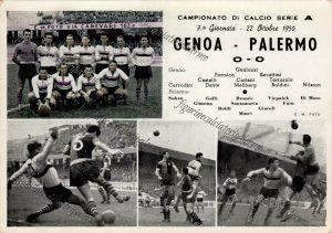 Palermo Calcio 1950-1951 serie A 10° posto stadio luigi ferraris