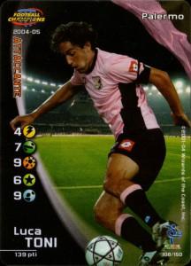 figurine calciatori palermo 2004-2005 Toni