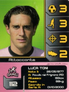 figurine calciatori palermo 2004-2005 wk Games Toni