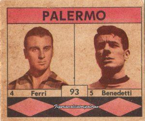 Palermo Calcio 1961-1962 Ferri-Benedetti