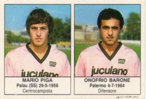 figurine calciatori palermo 1985-1986 Piga - Barone