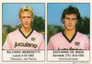 figurine calciatori palermo 1985-1986 Benedetti - De Biasi