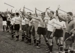 Palermo Calcio 1936-1937 serie B campo notarbartolo agosto 1936 saluto fascista