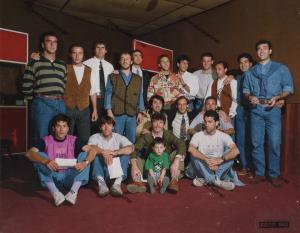 Palermo Calcio 1990-1991 studio di registrazione con Rino Martinez