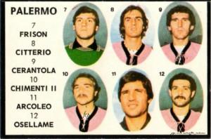 Calciatori 1978-1979 Frison-Citterio-Cerantola-Chimenti-Osellame-Arcoleo
