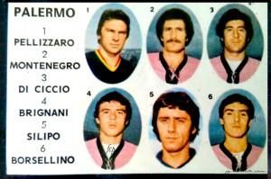 Calciatori 1978-1979 Pellizzaro - Montenegro - Di Cicco - Brignani - Silipo - Borsellino
