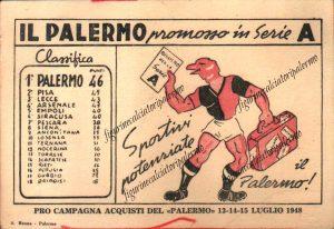 Palermo calcio promosso in serie A 1947-1948